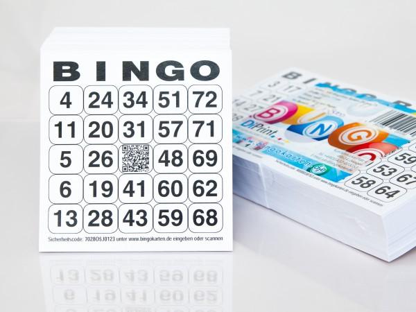 Bingokarten Standard 24 aus 75