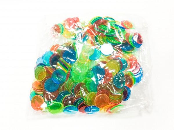 400 Bingo Chips 4 Farben rund 19 mm Durchmesser