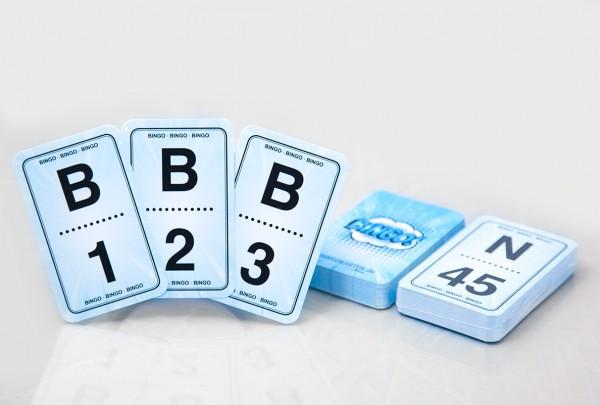 Zahlen Spielkarten für Bingospiele