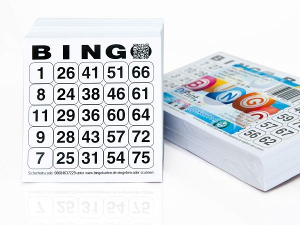 Bingokarten Standard 25 aus 75