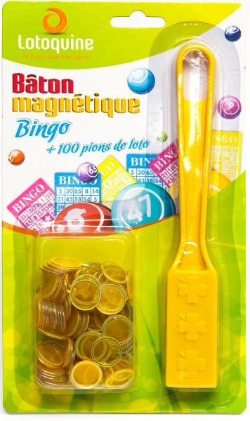 Bingo Magnetstab mit 100 Bingo Chips