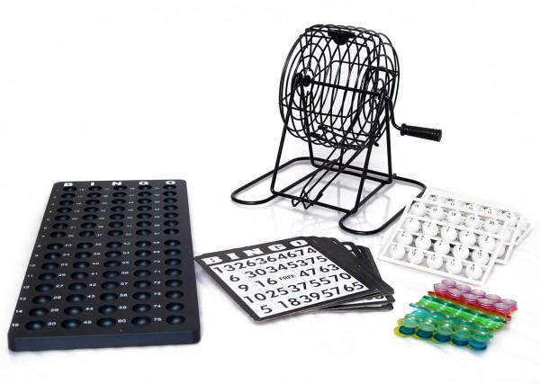 Bingo Spiel / Bingo Set mit 75 Kugeln