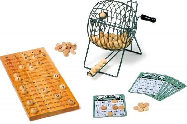Holz Bingo-Set Deluxe mit 75 Kugeln