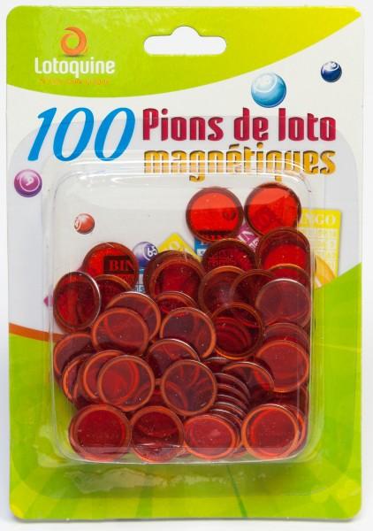100 Bingo Chips magnetisch halbtransparent 17 mm Durchmesser